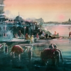 The Mystery of the Ganges (WC and pastel 74x54cm)
