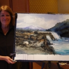 My painting of the Petrohue Waterfalls