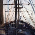 Painting of the Beagle replica Punta Arenas