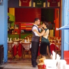 Tango dancers La Boca Buenos Aires