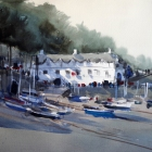 Demo studio painting of Clovelly