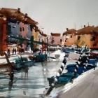 Burano Italy (WC,  en plein air  74x54cm)