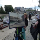 Painting barges along the Seine (2)