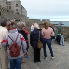 Painting the sunset (with locals) at St Malo