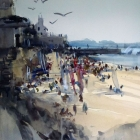 Public Beach St Malo (54 x 74cm)