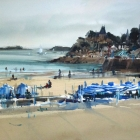 View of St Malo from Dinard (74 x 54cm)