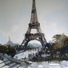 View of the Eiffel Tower (54 x 74cm)