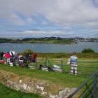 Group painting Kinsale Harbour