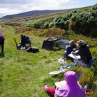 Group painting at Sally Gap