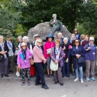 The group next to the Oscar Wilde statue