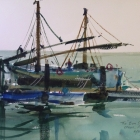 Painting of small study of traditional boat