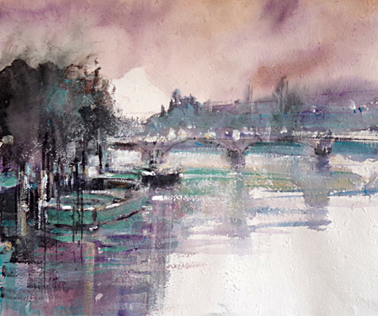 On the Seine (WC 55x47cm on local hand made paper)_edited-1
