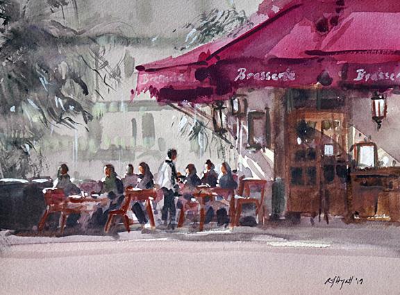 Parisian Cafe 3 (WC 28x20cm)