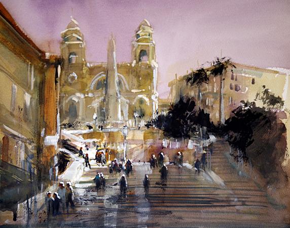 The Spanish Steps Rome (WC 42x48cm)_edited-1