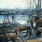Fishing Boats Lakes Entrance (Oil 46x61cm)