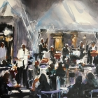 Jazz Band at Florian Venice (WC 50x40cm)