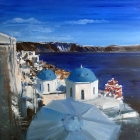 Oia, Santorini Greece (OIL, 1000cm x 1000cm)
