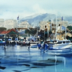 Demonstration painting Constitution Dock Hobart