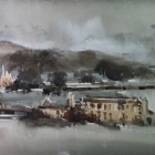 Demonstration painting Port Arthur (in the rain)