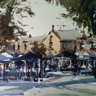 Demonstration painting Salamanca Place Hobart