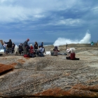 The group Bicheno Blow Hole