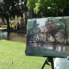 Finished painting of Bourton-on-the-Water