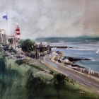 Plymouth Hoe (painted in a squall)