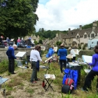 The group painting at Castle Combe