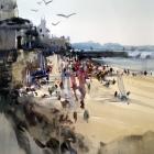 Back Beach St Malo (WC 54x74cm)