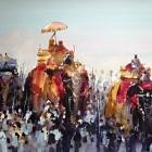 Diwali Parade (WC 98x74cm)
