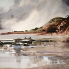 Beach-at-Sidmouth-Devon-UK-WC-74-x-54cm