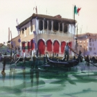 Fish Market, Venice, (WC, 37x27cm)