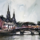 The-River-Lee-and-St-Finbarrs-Church-Cork-Ireland-WC-40-x-30cm