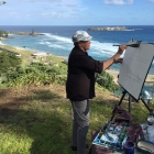 Painting Kingston Beach from Flagstaff Hill