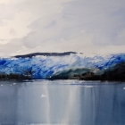 My painting of the Amalia Glacier