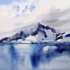 Painting of the majesty of the Antarctic Sound