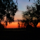 Intense sunset at Corynnia Station