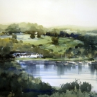 Studio-painting-of-the-Lakes-District