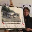 Demo-painting-of-Clovelly
