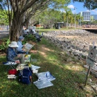 Group painting on Cairns-foreshore