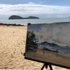 Painting-of-Double-Island-near-Palm-Cove
