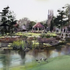 Painting-of-Strathalbyn-Park