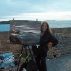 Painting at Night St Malo