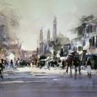 Agra Street Scene WC (32 x 23cm)