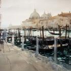 The Artist in Venice (WC 100x54cm)