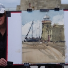Howth Lighthouse painting