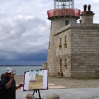 Painting at the Howth Lighthouse
