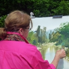 Painting the Puhoi River (2)