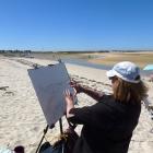 Painting at Armona Island