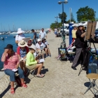 Painting the foreshore